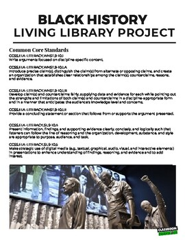 Black History Month Living Library Project