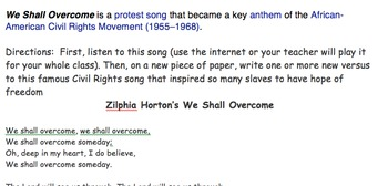 Black History Month - Lyric writing completion