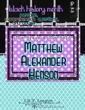 Black History Month MATTHEW ALEXANDER HENSON Poster Passag