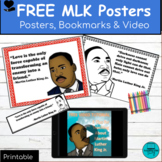 Black History Month Posters & bookmarks: MLK Classroom theme