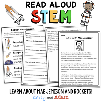 Black History Month Mae Jemison STEM Activity: Build a Rocket - NGSS Aligned