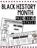 Black History Month Main Idea & Detail Activities