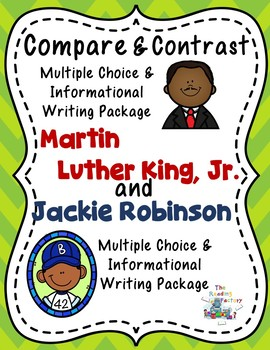 Black History Month-Martin Luther King, Jr., Jackie Robinson, Compare & Contrast