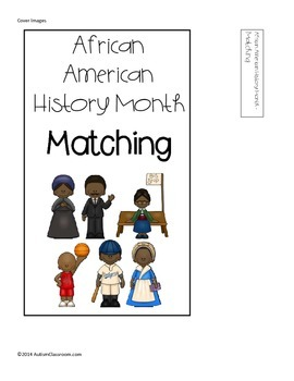 Black History Month Matching File Folder Game ( Autism & Special Ed. )