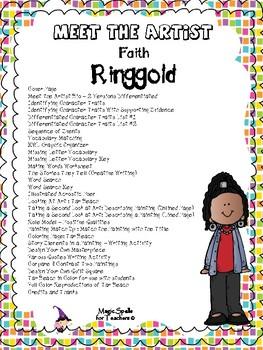 Black History Month - Meet the Artist Bundle - Bearden - Faith Ringgold -Johnson