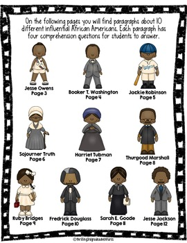 Black History Month: Mini-Comprehension Passages