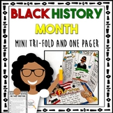Black History Month: One Pager Activity with Mini Tri-Fold Board