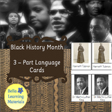 Black History Month - Montessori 3 Part Cards - Reading Cl