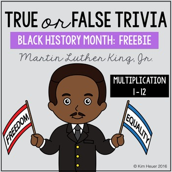 Black History Month Multiplication FREEBIE | Martin Luther King, Jr.