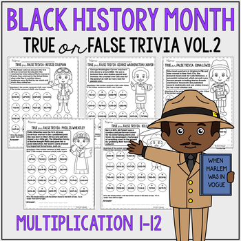 Black History Month Multiplication Review: Vol 2