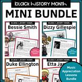 Black History Month Music Appreciation Worksheets Bundle