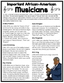 Important African-American Musicians & Quiz