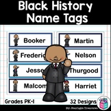 Black History Month Name Tags - Editable