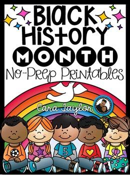 Black History Month No Prep Printables - Math and Literacy