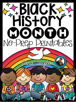 Black History Month No Prep Printables - Math and Literacy