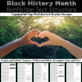 Black History Month Nonfiction Text Structure Passages