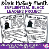 Black History Month: Notable African Americans Infographic Project