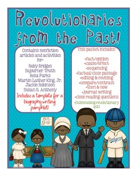 Black History Month Packet: Revolutionaries of the Past w/