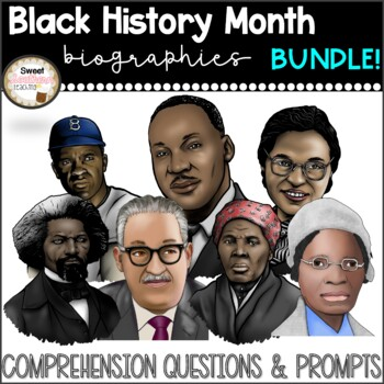 Black History Month Passages BUNDLE with Comprehension Activities