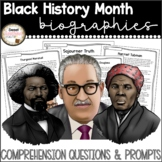 Black History Month Passages Part 2 with Comprehension Activities