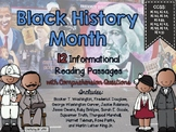 Black History Month Reading Passages and Comprehension Questions