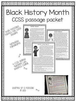 Black History Month - Passages with Coded Evidence Questions (Grades 3-5)