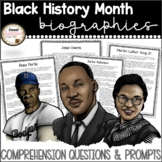 Black History Month Passages with Comprehension Activities