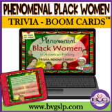 Black History Month Phenomenal Women BOOM CARDS NO PRINT - Teletherapy