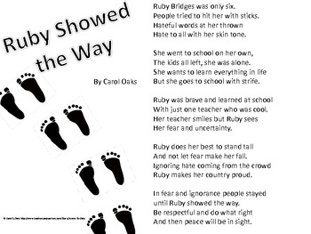 Black History Month Poem - Ruby Showed the Way by Acorns to Oaks