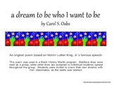 Black History Month Poem - a dream to be who I want to be