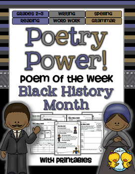 Black History Month Poetry Power! Daily Literacy Practice