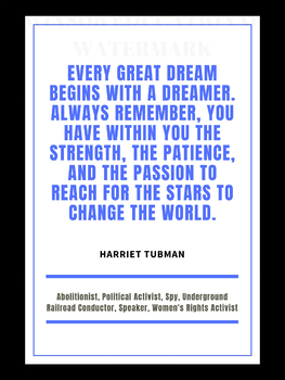 Black History Month Poster - Harriet Tubman