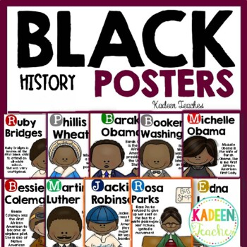 Black History Month Poster Set 2