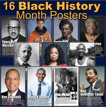 Black History Month Posters! 16 Posters of Diverse African Americans in History