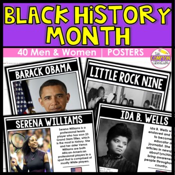 Black History Month Posters -  40 Modern, Well-Known, and Lesser-Known Figures
