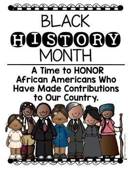 Black History Month Posters for Kindergarten and First Grade Social Studies