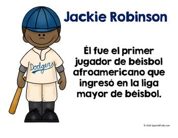 Black History Month Posters in Spanish (El mes de la historia afroamericana)