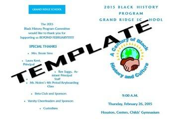 Black History Month (Program Template)