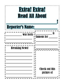 Black History Month Project- African American Research Newspaper