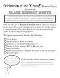 """Black History Month Project - """"Celebration of the Greats!"""""""