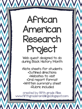 African American History Project & Worksheets