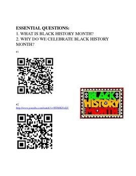 Black History Month QR Code Scavenger Hunt