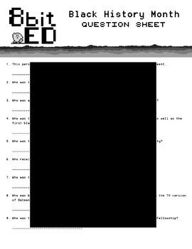 Black History Month QR Code Scavenger Quiz