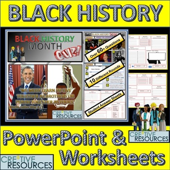 picture regarding Black History Month Quiz Printable identify Black Heritage Thirty day period PowerPoint Lesson Quiz