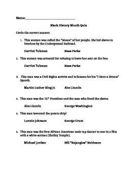 Black History Month Quiz MC