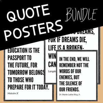 Black History Month Bundle: Quote Posters