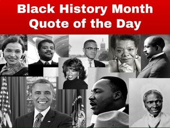 Black History Month Quote of the Day