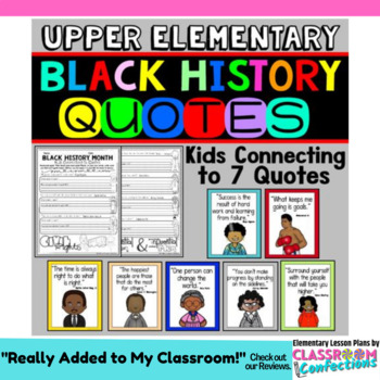 Black History Month Quotes Activity By Elementary Lesson Plans Tpt