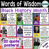 Black History Month Quotes Posters