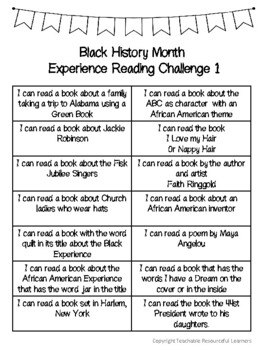 Black History Month Reading Challenges